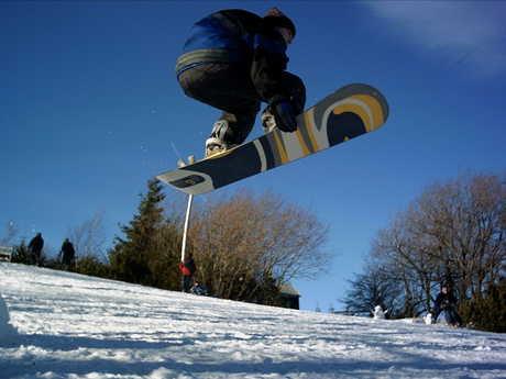 Na snowboardu... jeste se mam co ucit...
