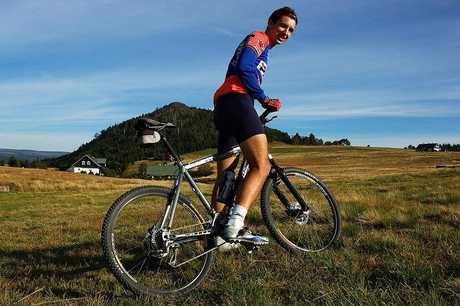 Cyklisticka poza na Jizerce :)