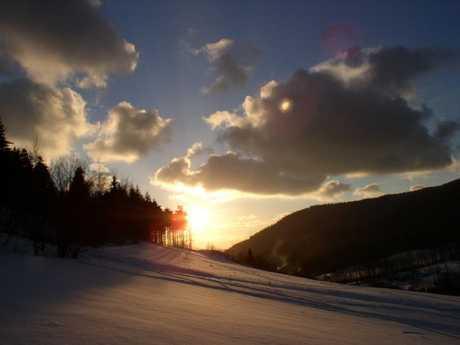 Západ Slunce na Pinduli