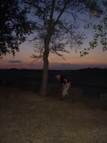 západ slunce, frisbee, brčko... romantika (srpen 2003)