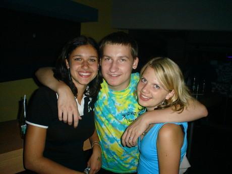 Lucinka , já a Jitulka na kaufu 14.7.2005