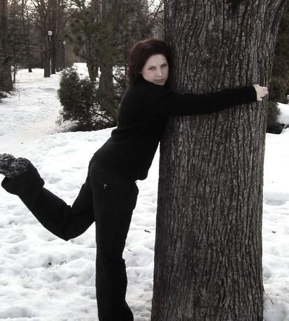 hm...po půlhodině na mrazu bez bundy...se i strom šikne!2!