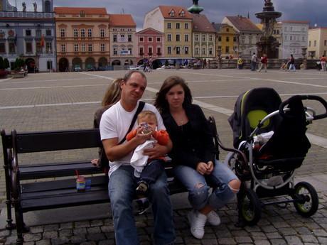 °° Já,taťka a brácha..V Českých Budějovicích...:)) °°