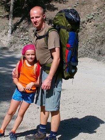 S dcerkou Terkou v létě