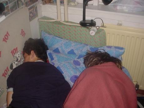 U jaké hezké dívky to asi spí, že? Omyl to jsem já!2!