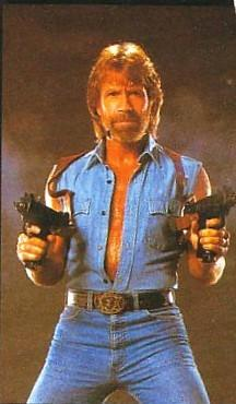 Chuck Norris napočítal do nekonečna. Dvakrát  Chuck Norris zemřel před 10 lety ale Smrtka neměla odvahu mu to říct  Chuck Norris umí dělit nulou  Chuck Norris musí třídit prádlo na tři hromady - bílé, barevné a krvavé  Kdyz jde Bubák spát, každou noc