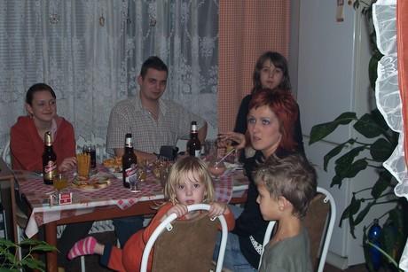 Zdeňka, bratříček, Monča s dětmi-Kačka, Natálka a Kubík