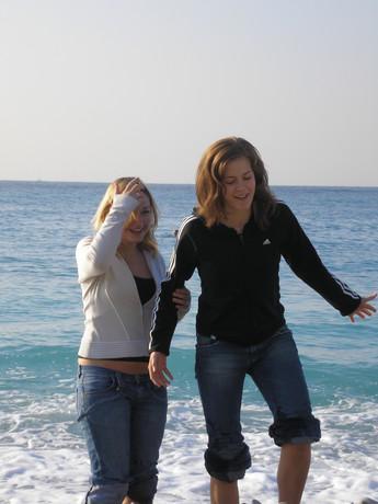 na pláži v Nice, pak sme se tam i koupaly!5!