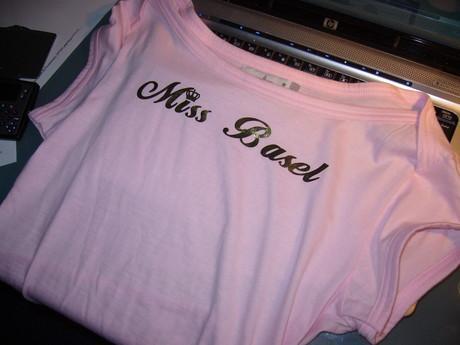Sladká výhra na HIP HOP ukaž se party ve švýcarsku, tričko MISS BASEL(Basilej)