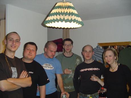 Složení našeho apartmá.. Zleva: Šusty, Jiří, Strnis, Vojta, JÁ a moje spolubydla Luca