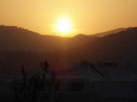 západ slunce přímo z okna hotelu... taková romantika!786!!615!