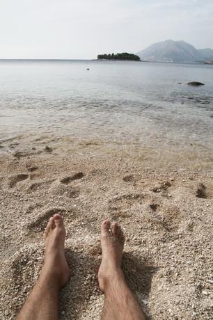 Ještě chvíli a poplavu prsama bez nohou na ostrov a zpět !!! (1km) !897!