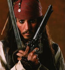 Johnny depp z pirátů z karibiku.