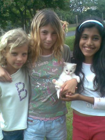 to jsou mí kamopšky a moje sestrenice a krasny kotatko proste holky s klaštercokadane !751!