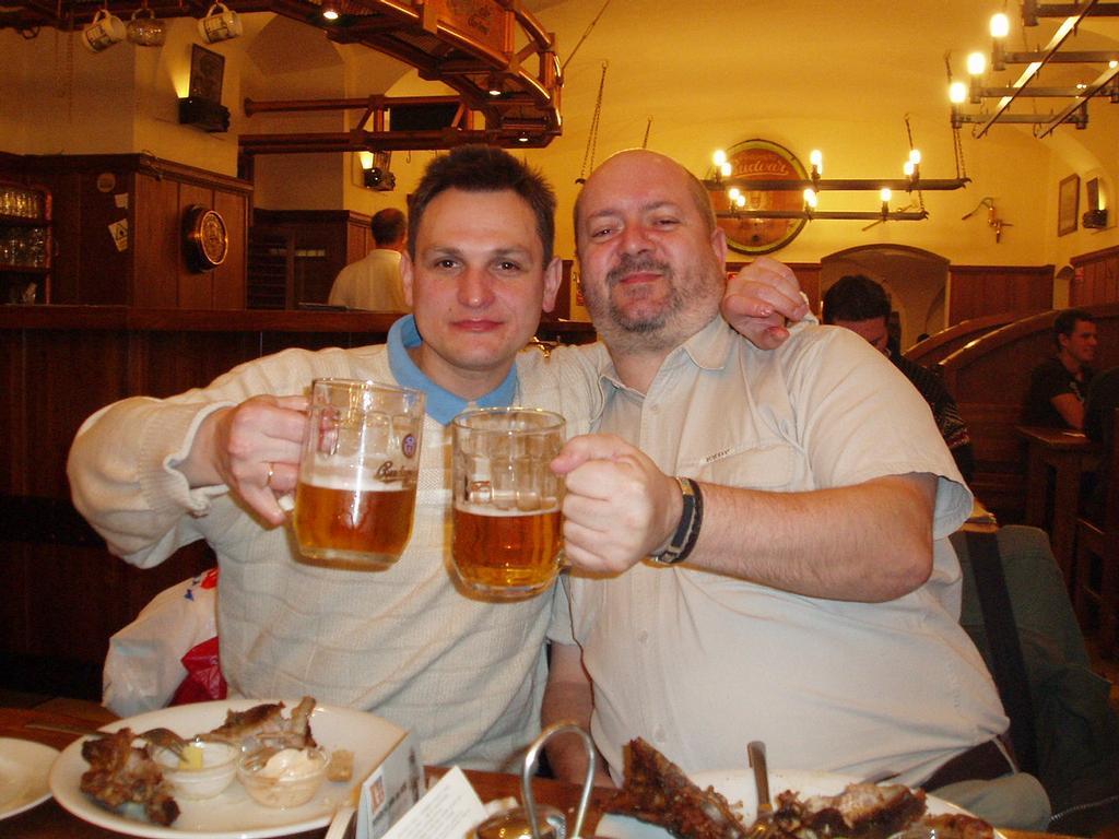 Politický vězeň v Bělorusku, nedávno propuštěný a už 17.3.2008 u mě na návštěvě-tentokrát  U Medvídků