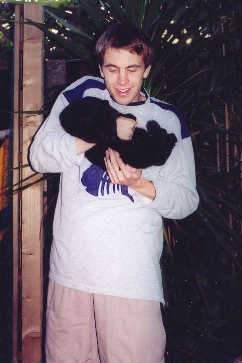 Anglie 2005: Já s kocourem Maxem