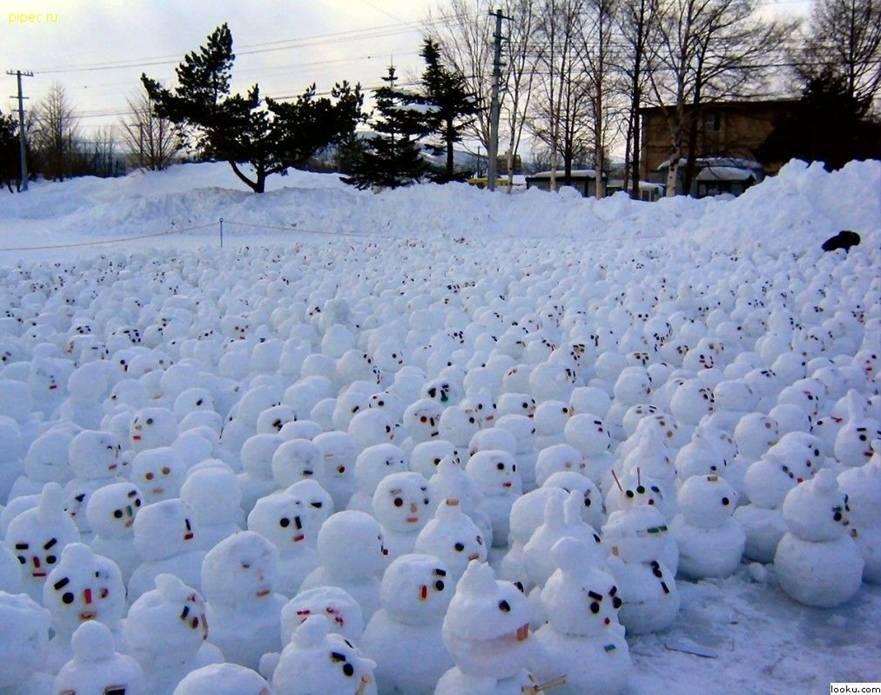 stávka sněhuláků v Norsku
