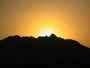 Zapad slunce v Egyptske pousti