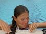 vycerpana po narocnem plavani