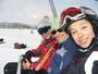 Ančí,Terinka a já na lyžáku...